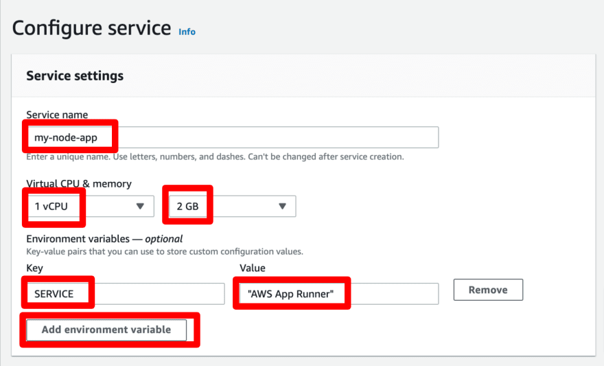 Backend services on AWS App Runner
