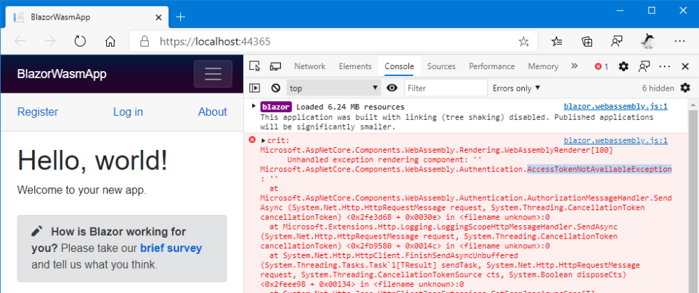 Cover image for How to send HTTP requests to public API without access token on an authentication enabled Blazor Wasm App?