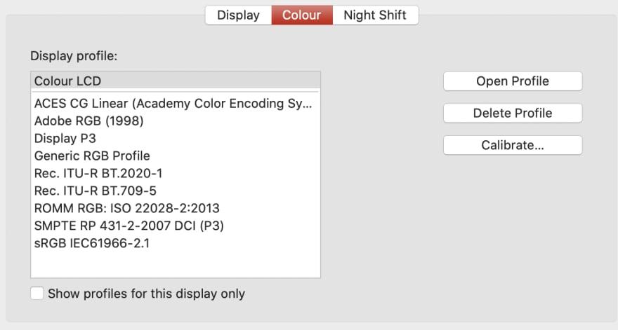 Macbook Color Scheme