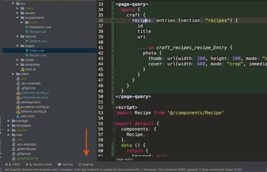 Graphql tool window