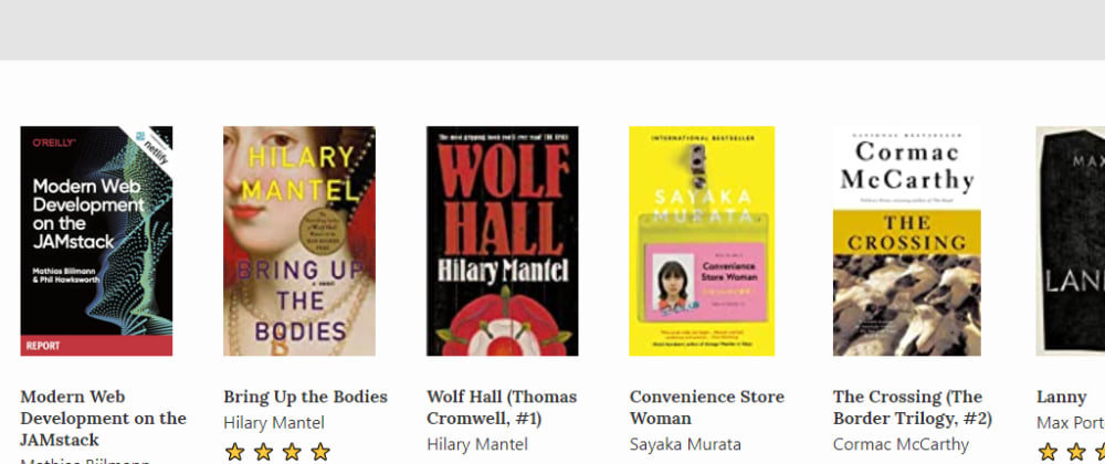 Cover image for Using the Goodreads API and 11ty to create an online bookshelf
