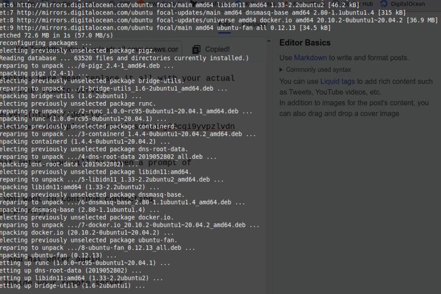 Run command 'apt install docker.io'