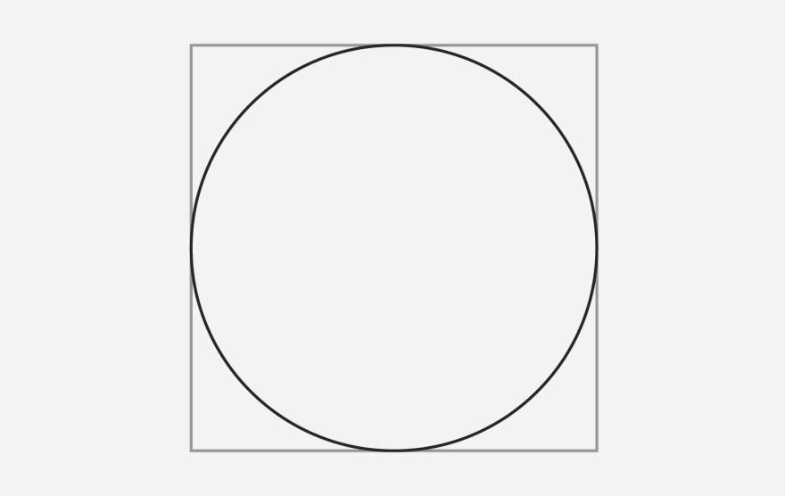 A circle that has a box behind it to demonstrate how it works on the web