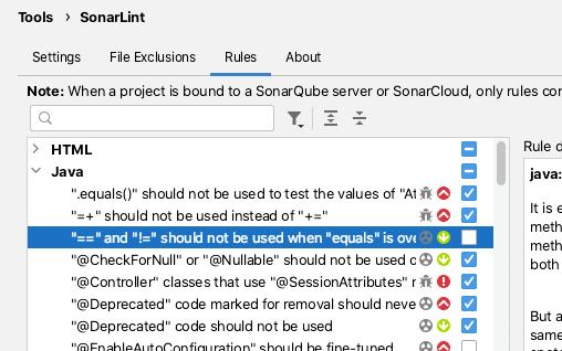Configuring Sonarl Lint