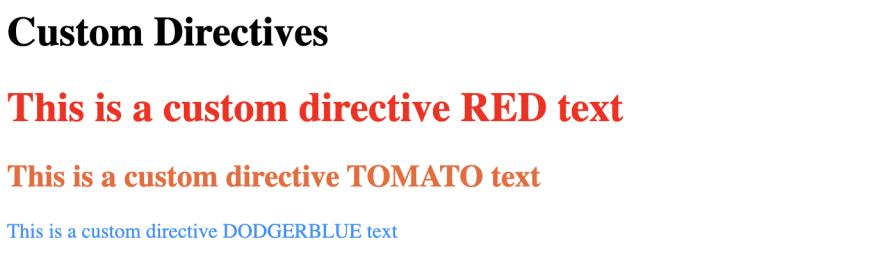 Custom directive output