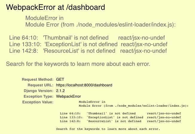 Webpack error in Django
