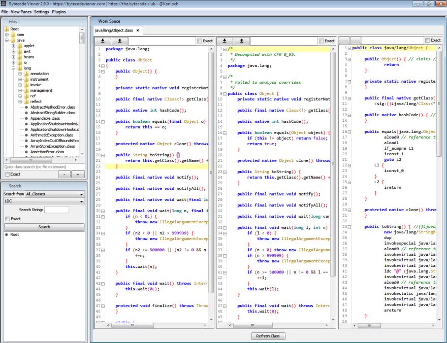 Bytecode Viewer Java decompiler