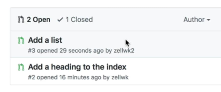 Pull request opened