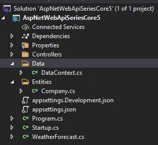Asp.Net 5 Web API Database