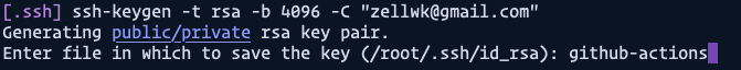 name ssh key file