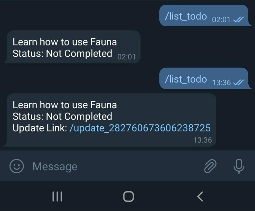 added update