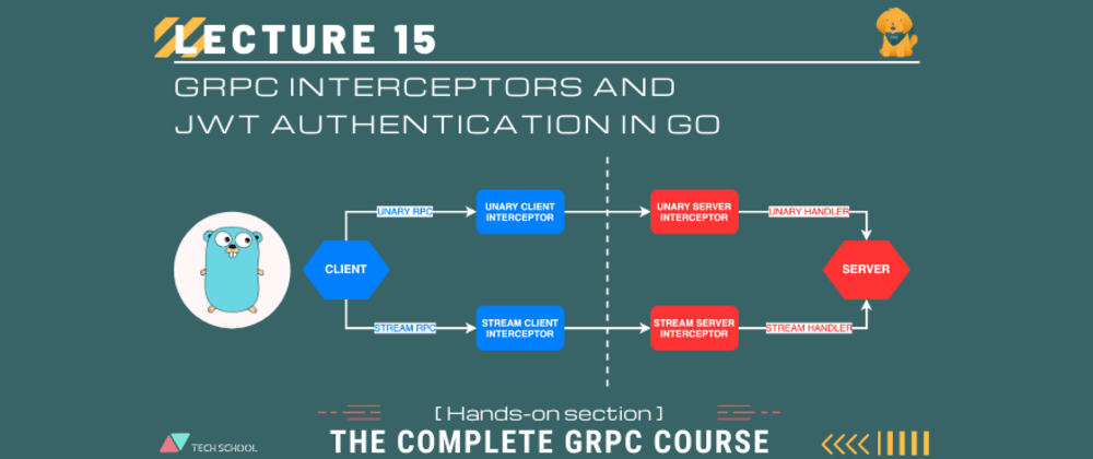 Cover image for Use gRPC interceptor for authorization with JWT