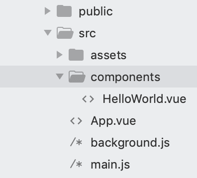 Screenshot of App.vue file