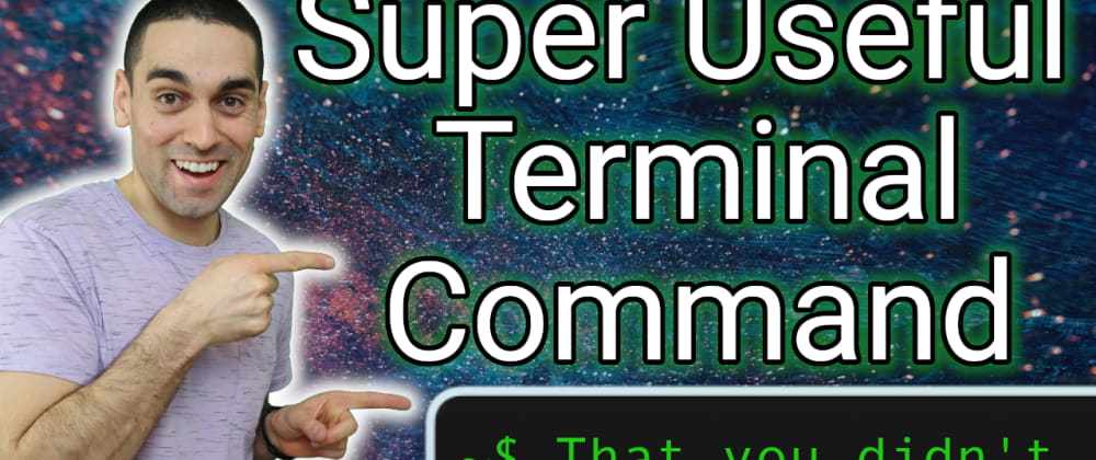 Cover image for [Video] Super Useful (lesser known) Terminal Command
