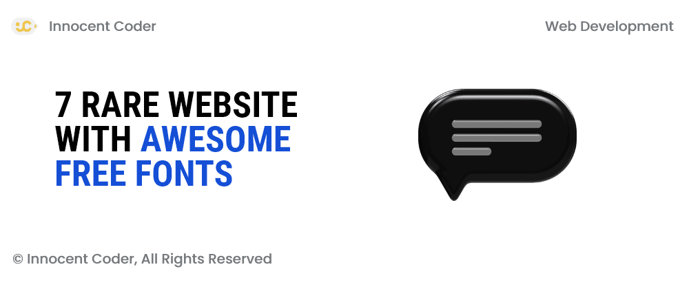 Cover image for 7 rare website with awesome free fonts