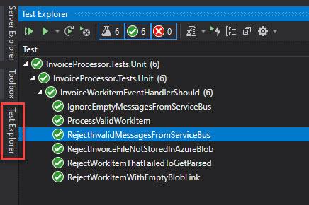 Visual Studio Test Explorer