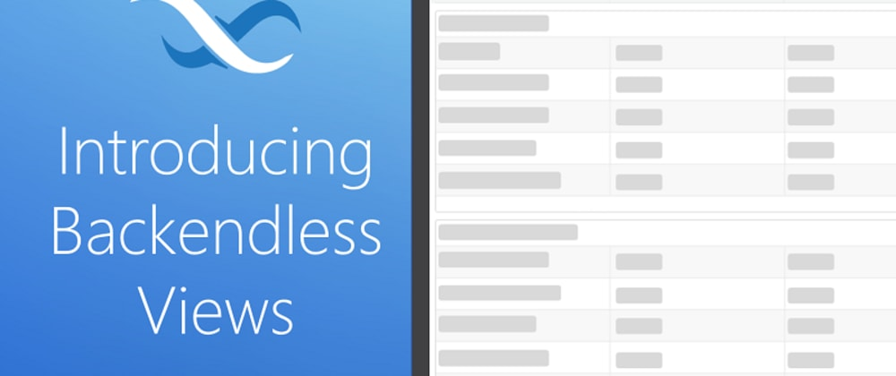 Cover image for Introducing Backendless Database View Designer