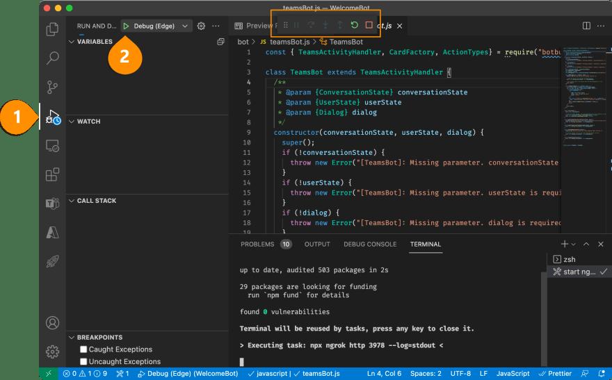 Screenshot - debug and run