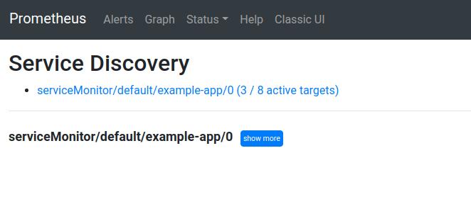 screenshot status\service discovery