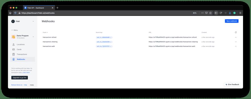 Card-Linking Webhooks