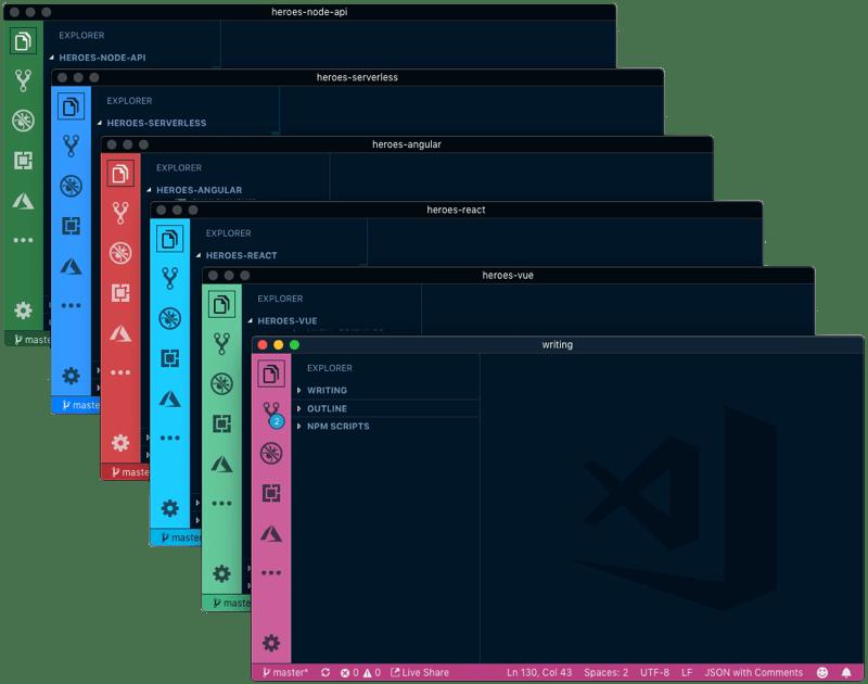 VS Code Peacock extension windows