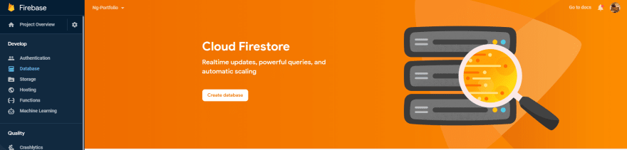 Create Firestore Database