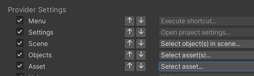 Screenshot of provider order