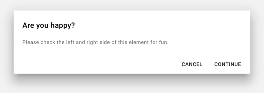 Screenshot of a material design dialog