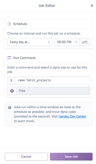 Scheduler add jobs