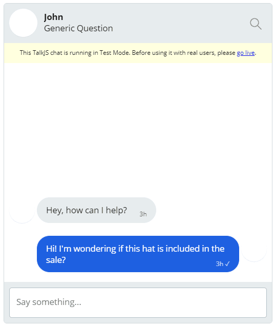 First conversation