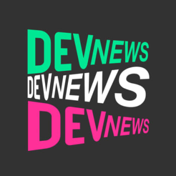The logo for the DevNews podcast.