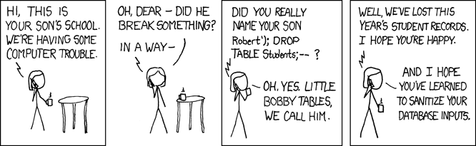 Bobby Tables!
