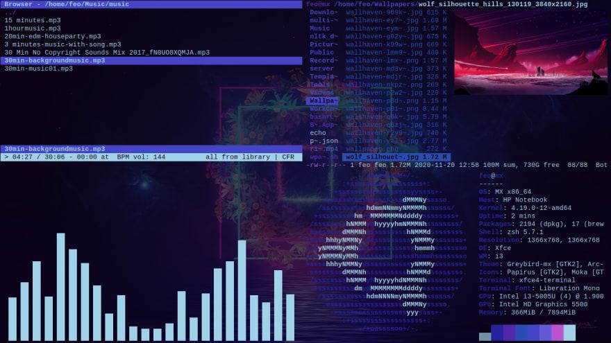 Vishnu Dileesh Linux rice screenshot