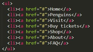 html code with split tag