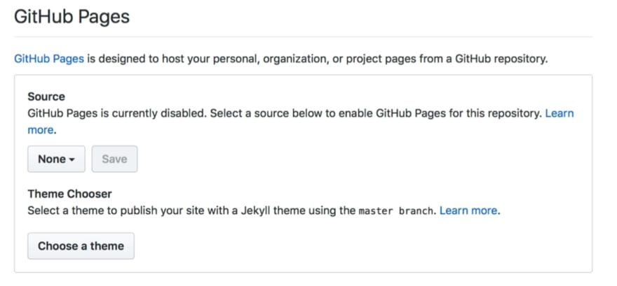 GitHub pages step 2