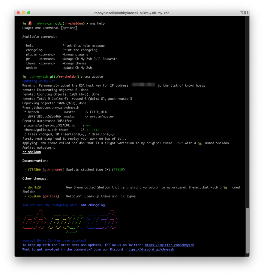 The new Oh My Zsh CLI tool