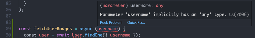typescript implicit any warning