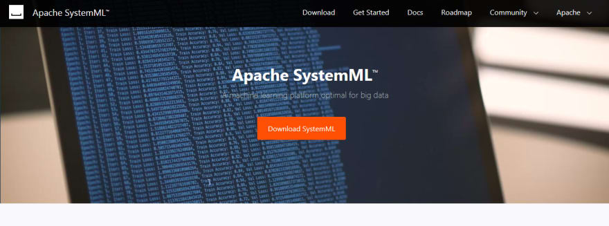 Apache SystemML ai and ml tool