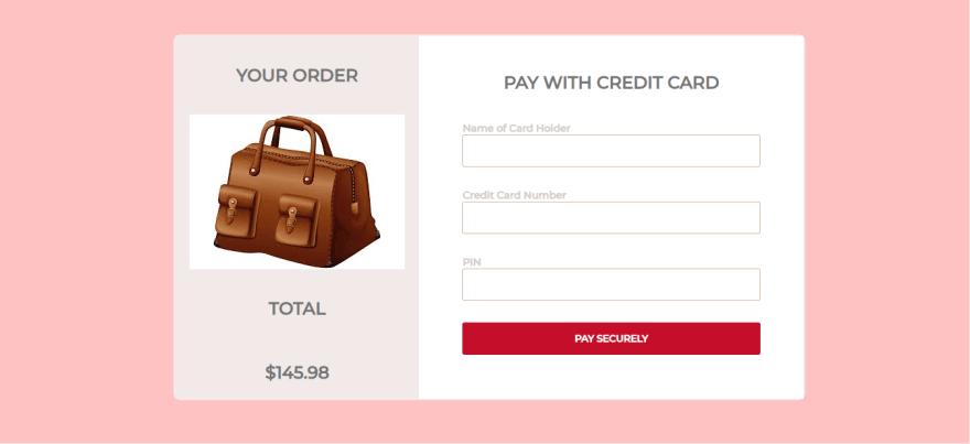 A checkout page
