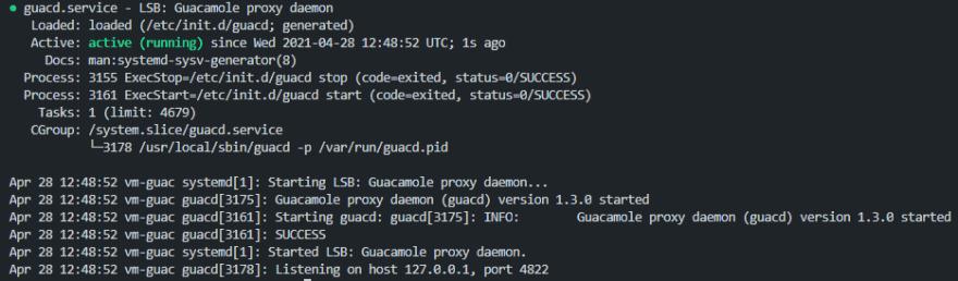 Guacamole Server Service Status