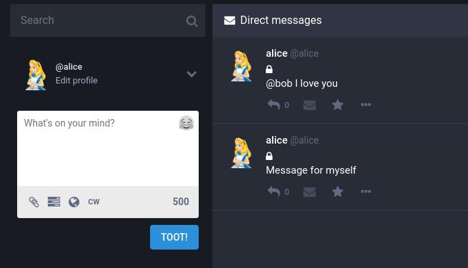 Alice to Bob