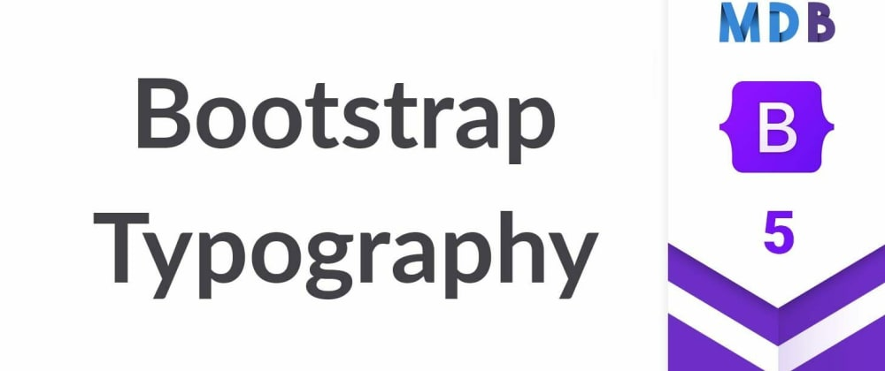 Cover image for Bootstrap 5 Typography