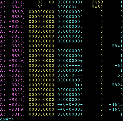 'clicalc' TROM's memory monitor