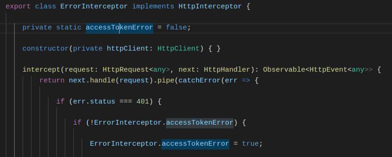 Error Interceptor