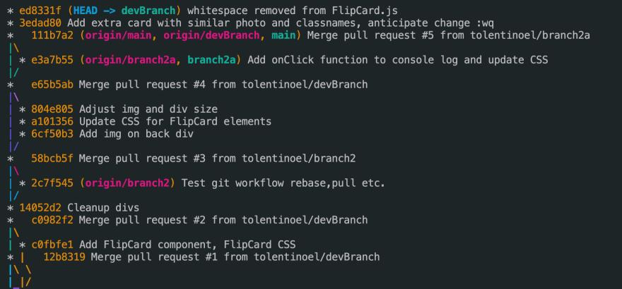 CLI command git log