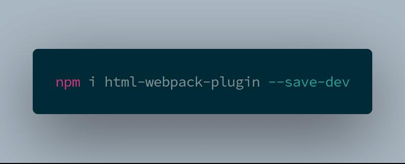 install html-webpack-plugin