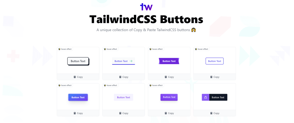 Cover image for A free copy & paste collection of TailwindCSS buttons 🌪