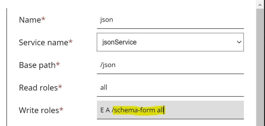 Json service authorization