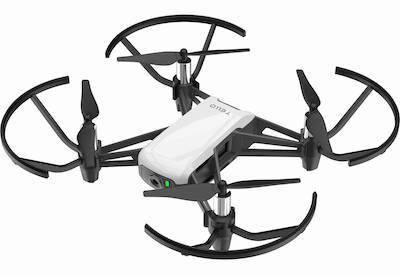Flying drone on a blank background