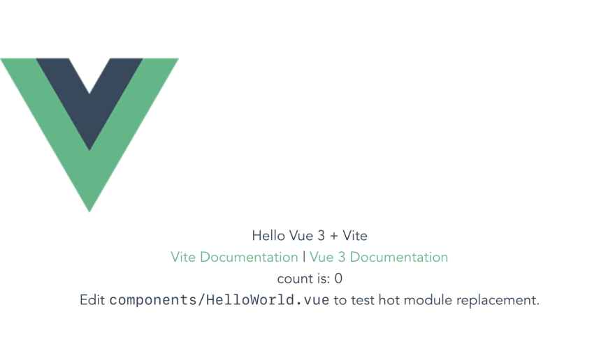 Show Vite running Vue with Tailwind